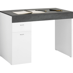 Tecnos Schreibtisch Sliding, Tischplatte ausziehbar weiß