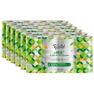 Amazon-Marke: Presto! 3-lagiges ECO Toilettenpapier, 48 Rollen (6 x 8 x 200 Blätter)