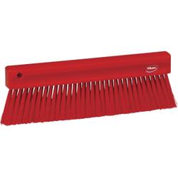 Vikan Mehlbesen, weich, 300 mm, Spezialbesen zur Entfernung feinster Partikel, Farbe: rot