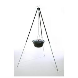 acerto® Feuerstelle acerto® Gulaschkessel 22 Liter + Dreibein 180cm