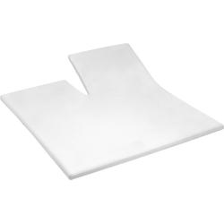 Spannbettlaken Uni Frottier Split Topper, Cinderella, für Split-Topper geeignet weiß 180 cm x 200-210 cm