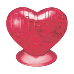 3D Crystal Puzzle Herz Rot 46 Teile