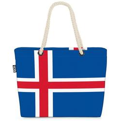 VOID Strandtasche (1-tlg), Island Flagge EM WM Länderflagge Fahne