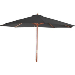 Sonnenschirm Lissabon, Gartenschirm Marktschirm, Ø 3,5m Polyester/Holz 7kg ~ anthrazit
