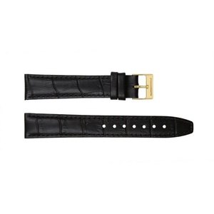 Ritter Uhrbänder Uhrenarmband Ritter Uhrband schwarz Kalbsleder mit Krokoprägung