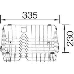 Blanco Geschirrkorb 231696 34 x 23,5 cm, mit Tellerstapler
