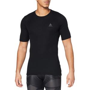 Odlo Herren Shirt Short Sleeve Crew Neck Warm Unterhemd, Black, XXL