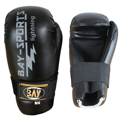 BAY-Sports Boxhandschuhe Lightning Open Hands Pointfigter Handschuhe Kickbo M