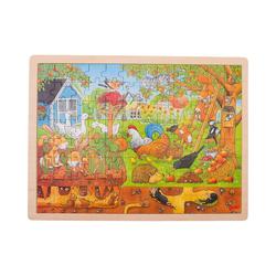 goki Puzzle Holzpuzzle 96 Teile Unser Garten über und unter, Puzzleteile