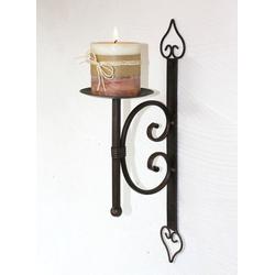 DanDiBo Wandkerzenhalter Wandkerzenhalter 12110 Kerzenhalter aus Metall Wandleuchter 41 cm Kerzenleuchter