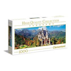Clementoni® Puzzle Neuschwanstein 1000 Teile Panorama Puzzle, Puzzleteile bunt