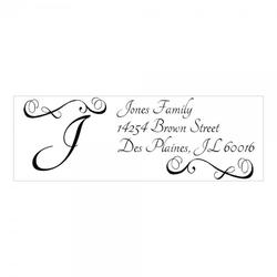 Monogrammstempel - Arabesken Design und Initialen - Trodat 4915