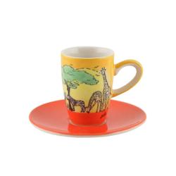 Mila Espressotasse Mila Keramik Espresso-Tasse mit Untere Afrika,