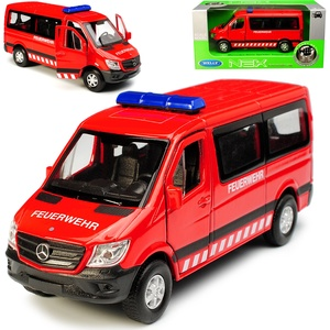 Welly Mercedes-Benz Sprinter W906 Personen Transporter Rot Feuerwehr Modell 2006 Ab Facelift 2013 ca 1/43 1/36-1/46 Modell Auto