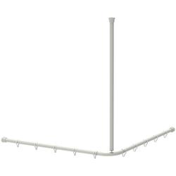 Duschvorhangstange DVS-L-B 1200x12, ERLAU, Ø 30 mm, kürzbar, Individuell kürzbar