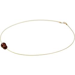 Gemshine Perlenkette Barock Zuchtperle Tahiti Garnet, Made in Germany.