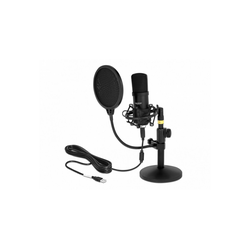Delock Professionelles USB Kondensator Mikrofon Gaming-Headset