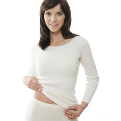 Medima Damen Unterhemd langarm 100% Angora weiß Gr.XL
