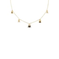 PDPAOLA Collier La Bamba Gold Necklace, CO01-201-U, mit Zirkonia (synth), Kristall bunt