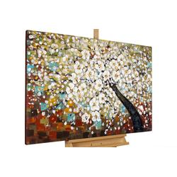 KUNSTLOFT Gemälde Zauber im Baumwipfel, handgemaltes Bild auf Leinwand