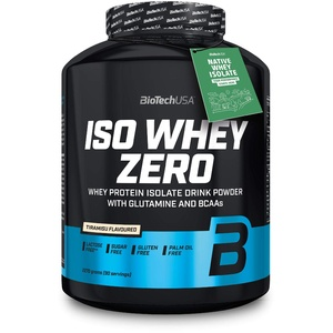 BioTechUSA Iso Whey ZERO, Lactose, Gluten, Sugar FREE, Premium Whey Protein Isolate, 2270g, Tiramisu