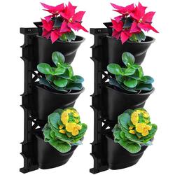 UPP Blumentopf Wand-Garten, mit Bewässerungssystem, 2x3 Töpfe