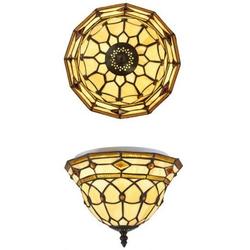 Casa Padrino Tiffany Deckenleuchte 25cm - Glas Mosaik Decken Lampe Leuchte