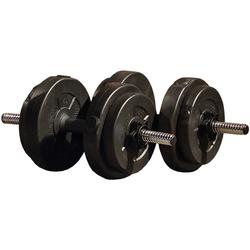 Iron Gym Kurzhantel, 16 kg, (Set, 18-tlg., mit Kurzhantelstange)