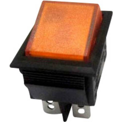 SCI Wippschalter R13-69B-01 YE 250 V/AC 10A 2 x Aus/Ein rastend