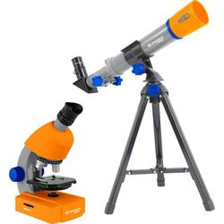 Bresser Optik Junior Teleskop & Mikroskop-Set Linsen-Teleskop Azimutal Achromatisch, Vergrößerung