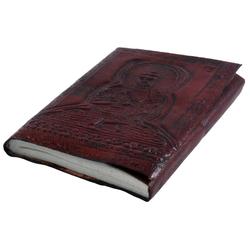 Guru-Shop Tagebuch Notizbuch, Lederbuch, Tagebuch mit Ledereinband..