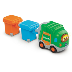 Vtech® Spielzeug-Müllwagen Tut Tut Baby Flitzer Müllauto & 2 Mülltonnen