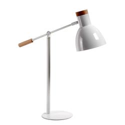 Tischlampe aus Metall in Weiß