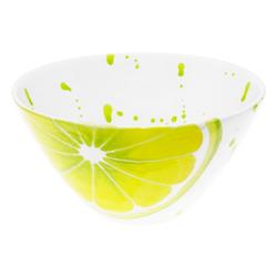 Lashuma Müslischüssel Zitrone, Keramik, Salatschale handgemacht, Schüssel zum Servieren Ø 16 cm