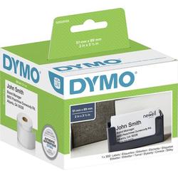 DYMO Etiketten Rolle S0929100 S0929100 89 x 51mm Papier Weiß 300 St. Nicht klebend Terminkarten, Vi