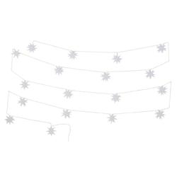 LED-Lichterkette, mit 18 weißen Sternen und Timerfunktion