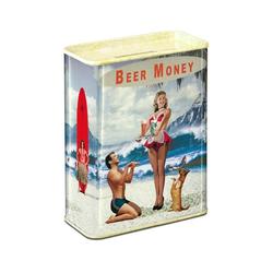 LOGOSHIRT Spardose im Beer Money-Design bunt