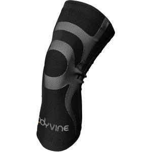 BODYVINE Unisex – Erwachsene Triple 3-Lagen Kompressions Knie Bandage mit Power-Band Compression Taping, Grau, XL