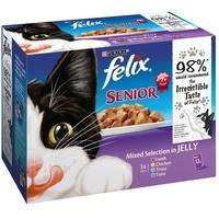 FELIX Senior Pouches In Gelee - x 100 g Lamm, Huhn, Forelle, Thunfisch