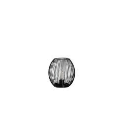 Glas Koch Laterne Posto in schwarz, 18 cm