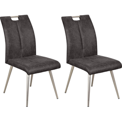 Stuhl SILVER 2 2 Stück grau