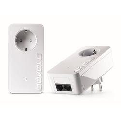 DEVOLO dLAN 550 duo+ Kit Powerline 500Mbit, 2xLAN,Netzwerk,range+ weiß