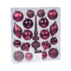Koopmann Weihnachtsbaumkugel 19-tlg. Weihnachtsbaumschmuck Set rot