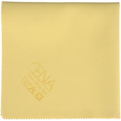 ENA Ultra Tex PU Tuch, 38 x 37 cm, Putztuch für die fusselfreie Reinigung, 1 Packung = 5 Tücher, gelb