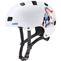 Uvex Kinderfahrradhelm Fahrradhelm kid 3 white skate