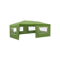 tectake Pavillon Garten Pavillon 6x3m mit 5 Seitenteilen grün