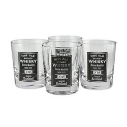 Basispreis* for friends Whiskeygläser, 4er-Set ¦ transparent/klar ¦ GlasØ: [8.0]