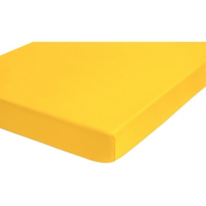 biberna 0077641 Spannbetttuch Topper Jersey-Elastic (Topperhöhe 8-12 cm) 1x 180x200 cm > 200x220 cm individuell gelb