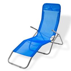 Sonnenliege / Gartenliege -Virginia Beach- blau Relaxliege