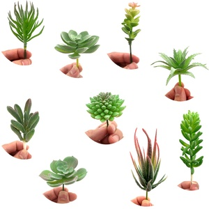 YuChiSX 9 Stück Sukkulenten Künstlich, Faux Blume Sukkulenten Gemischt Künstliche Blumen Pflanzen Decor Fake Sukkulenten Pflanzen ür Home Decor Innen Wand Garten DIY Dekorationen
